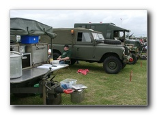 Suzy's Field kitchen, and some of the other Military Vehicles