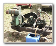 1949 2hp Lister D driving a Drake & Fletcher Orchard spray pump