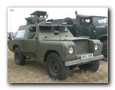 Armour plated Land Rover