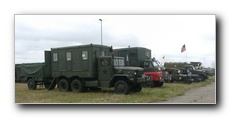 A few of the large number of Military Vehicles