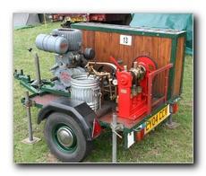 Wolseley 1.5hp WD11 driving a Crop Spraying Pump