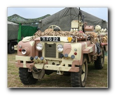 Military Land Rover in Desert Camouflage