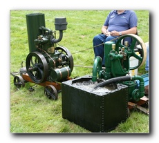 "1927 2 - 2.5hp Blackstone ""No Trouble"" engine driving a c1940 Tangye V102 single acting Water Pump"