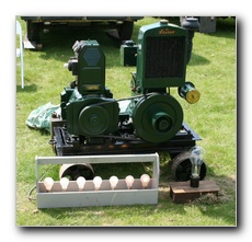 1950 1.5hp  Lister D Radiator cooled 240V 1 Kw generator set